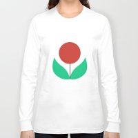scandinavian Long Sleeve T-shirts featuring Scandinavian flowers by kongkongdigital