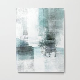 Atmospheric Contemporary Abstract Landscape Painting Metal Print