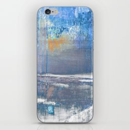 Blue Color Patches iPhone Skin