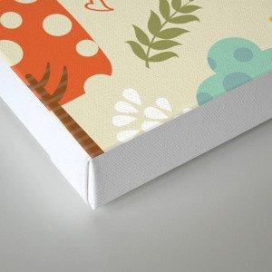 Woodland pattern Canvas Print