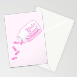Under Control Pink Medication Stationery Cards