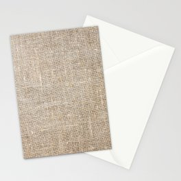Len Sack Fabric Texture Stationery Cards