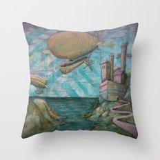 Far Off Land Throw Pillow