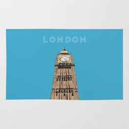 London Big Ben Travel Poster Rug