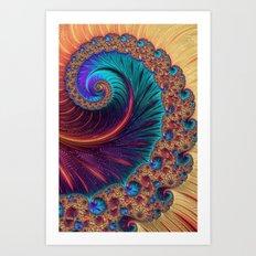Bejewelled Spiral Art Print