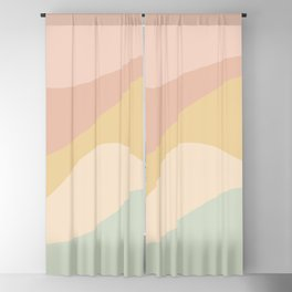 Abstract Color Waves - Neutral Pastel Blackout Curtain