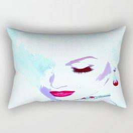 Fatal White. A Vintage Blonde Bombshell in Pop Art Style Rectangular Pillow