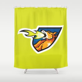 Fire Breathing Rowdys Logo Shower Curtain