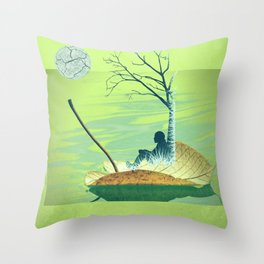 Stand beside me when I leave Throw Pillow