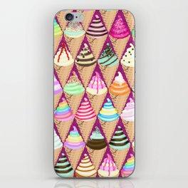 Colourful Ice Creams Diamond Pattern iPhone Skin