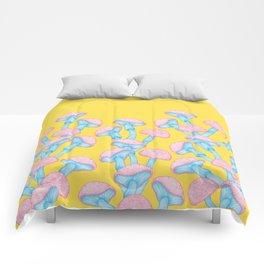 The Garden of Wonderland Mushroom Comforters
