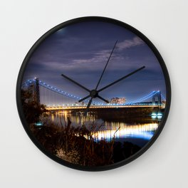 GWB with Moon (Color) Wall Clock