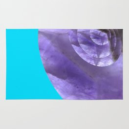 Light Blue Mystical Powers of Amethyst #society6 Rug
