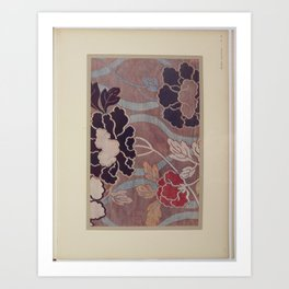 Verneuil - Japanese paper and fabric designs (1913) - 65: Peonies Art Print