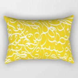 @NEW Modern Ribbon | Sun Yellow Rectangular Pillow