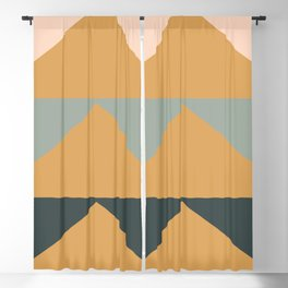 Triangles in Blush, Gray, and Honey Blackout Curtain
