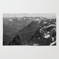 f1 Area & Throw Rugs featuring Archangel Valley by Kevin Russ