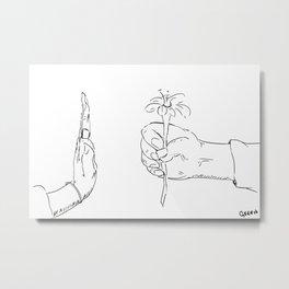 Rejection Metal Print