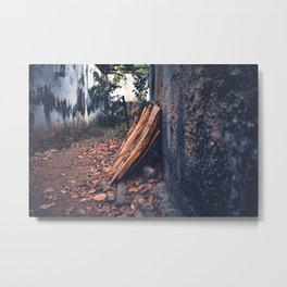 Fire the Wood Metal Print