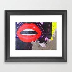 Lip Rip Framed Art Print