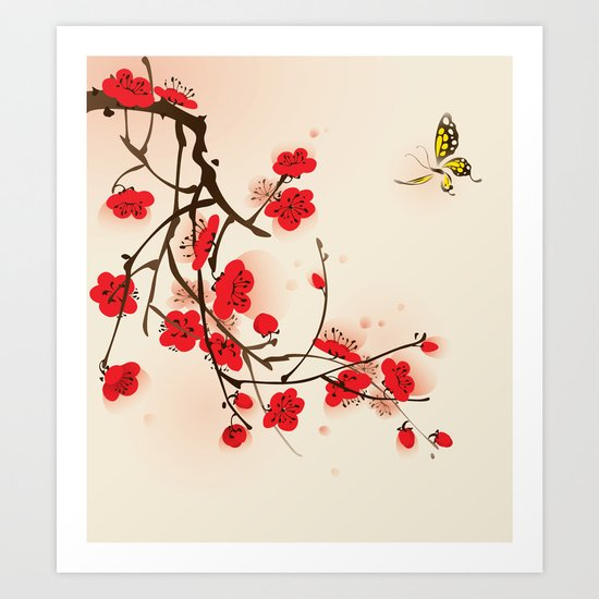 Oriental plum blossom in spring 011 by oriartiste