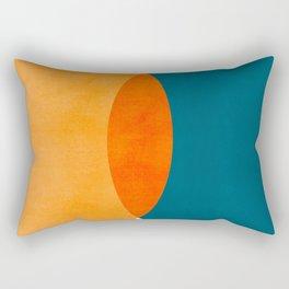 Mid Century Eclipse / Abstract Geometric Rectangular Pillow