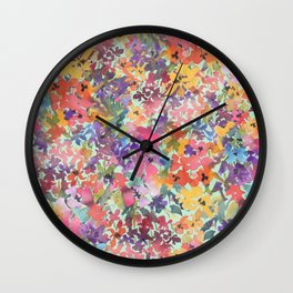 Prairie Wildflowers Wall Clock