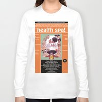 health Long Sleeve T-shirts featuring Junxploitation Poster (Health Spa) by Hobo&Arrow