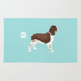 english springer spaniel funny farting dog breed gifts Rug
