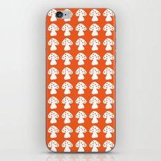mushroom orange iPhone & iPod Skin