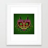 majoras mask Framed Art Prints featuring Sugarskull / Majoras mask /color by tshirtsz