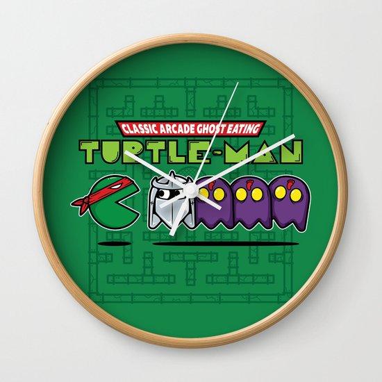 Hero in a Pac-Shell (Raph) Wall Clock