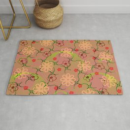 Flowers and rounds Rug