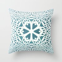 viking Throw Pillows featuring Viking by Truly Juel