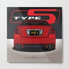 MRP TL Type-S Red S Metal Print