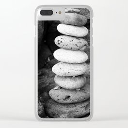 Stacked pebbles Clear iPhone Case