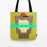 superhero Tote Bags featuring current superhero by AmDuf