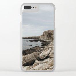 Stony beach Clear iPhone Case