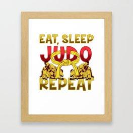 Judoka design   Judo graphic: Eat Sleep Judo Repeat Framed Art Print