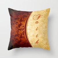 faith Throw Pillows featuring Faith by Robin Curtiss