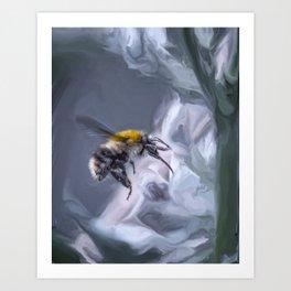 bumblebee mixed media artwork Art Print