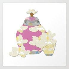 Magnolia Blossoms Art Print