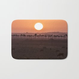 Sunset in the palm trees Bath Mat