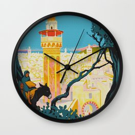 Tunis Tunisia - Vintage Africa Travel Poster Wall Clock