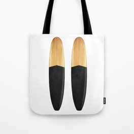 Vintage Wooden Surfboard Tote Bag