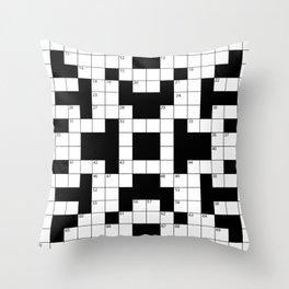 Cool Crossword Pattern Throw Pillow
