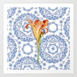 Blue Rhapsody Daylily Art Print