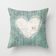 Rustic Heart Throw Pillow