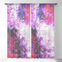 Pop Starburst Nebula Sheer Curtain