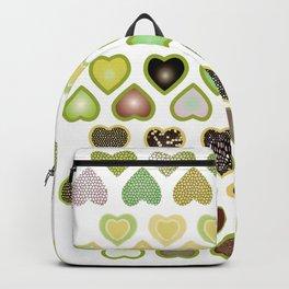 Green hearts wallpaper Backpack